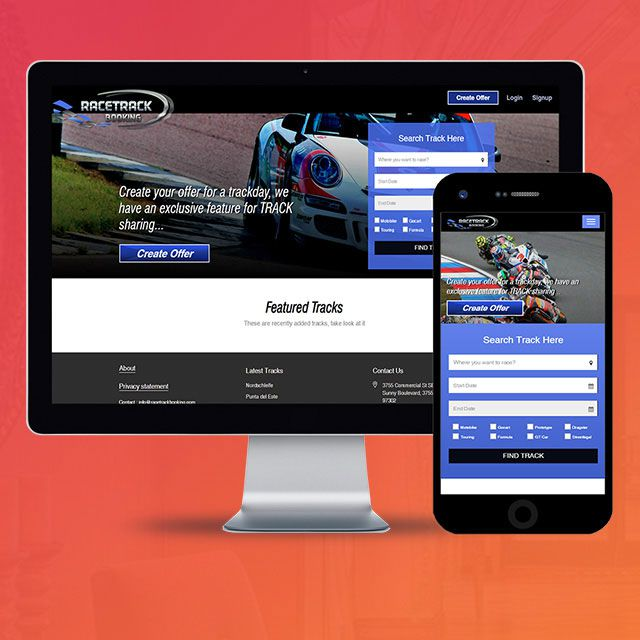 Racetrack Booking